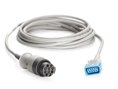 GE Healthcare TruSignal Interconnect Cable with Datex (N) to Universal Connector, 10 Ft