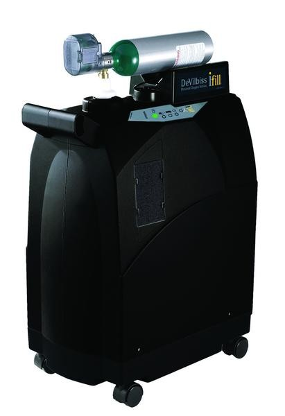 Drive DeVilbiss iFill Personal Oxygen Station with Integrated 870 Post Valve and Cart, for Cylinders
