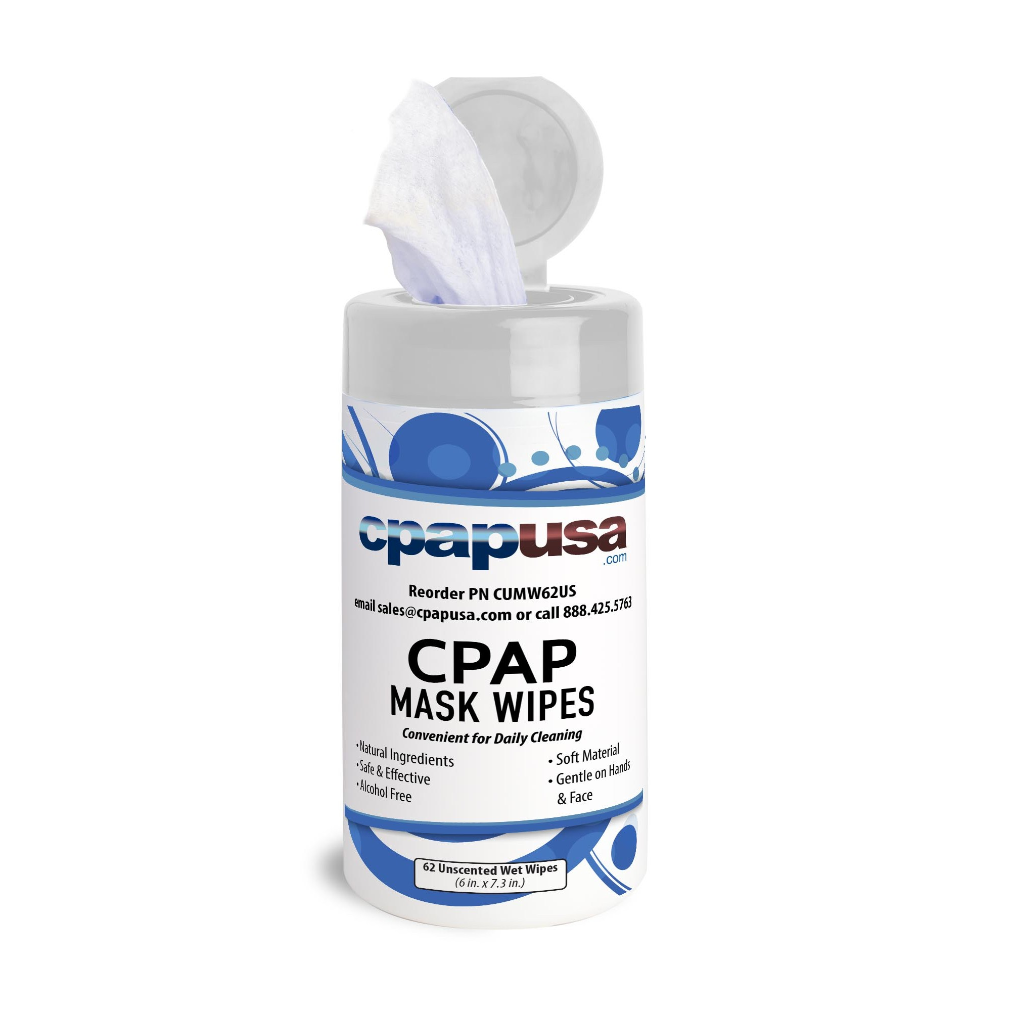 CPAPUSA.com CPAP Mask Wipes - Unscented - One Canister