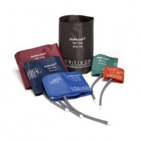 GE DURA-CUF 2-Tube DINACLICK Connector with Reusable Blood Pressure Cuffs