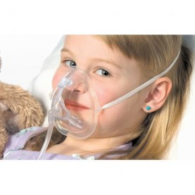Southmedic OxyKid Pediatric Mask with Head Strap, 7 Ft Line